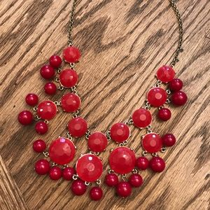 Francesca's Collection Red Statement Necklace